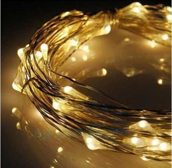 ریسه میکرو LED مفتولی سیمی نور زرد