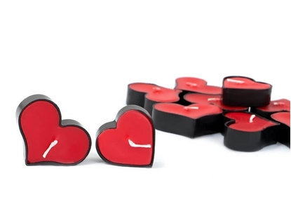 شمع وارمر قلبی قرمز تکی